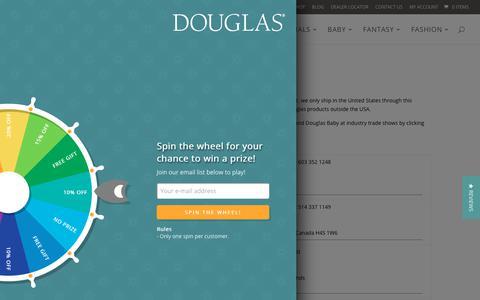 Screenshot of Contact Page douglascuddletoy.com - Contact Us | Douglas Cuddle Toys - captured Oct. 3, 2018