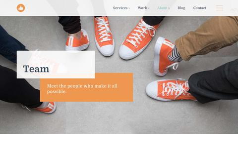 Screenshot of Team Page likeable.com - Meet Our Team | Likeable - captured Jan. 15, 2018
