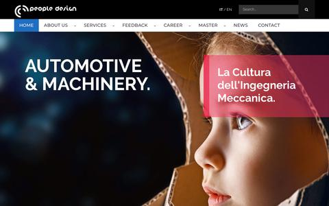 Screenshot of Home Page peopledesign.it - People Design - Consulenza ingegneristica e Outsourcing - captured Sept. 25, 2018