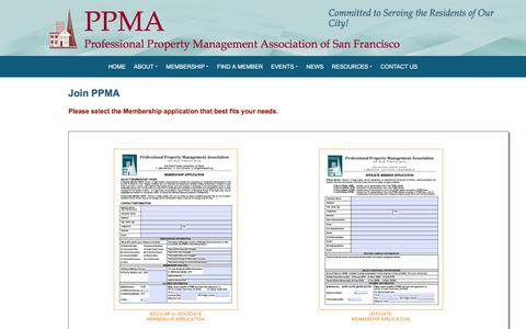 Screenshot of Signup Page ppmaofsf.org - PPMA - Professional Property Management Association of San Francisco - captured Jan. 25, 2018