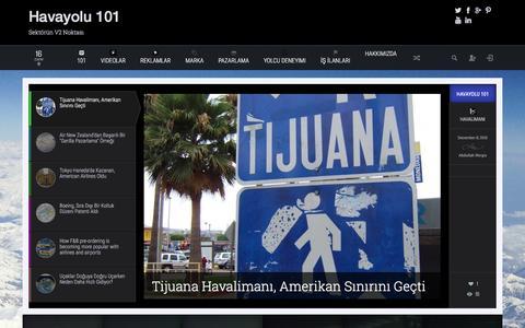 Screenshot of Home Page havayolu101.com - Havayolu 101 - Sektörün V2 Noktası - captured Dec. 8, 2015
