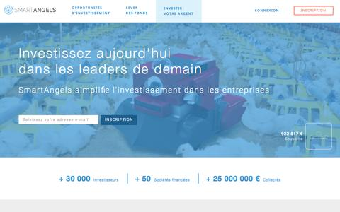 Screenshot of smartangels.fr - Comment investir en crowdfunding - SmartAngels - captured March 21, 2017