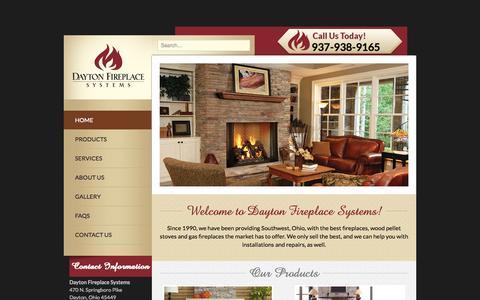 Screenshot of Services Page daytonfireplace.com - Dayton Fireplace Systems | Ohio's Finest Fireplace Center - captured Oct. 1, 2014