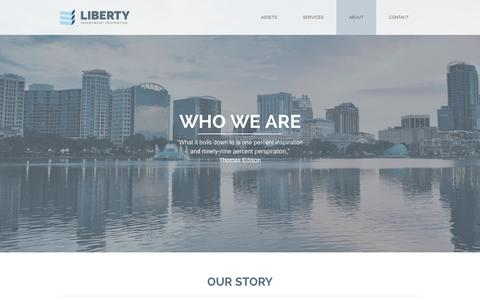 Screenshot of About Page libertyprop.com - About «  Liberty Investment Properties - captured Nov. 2, 2014
