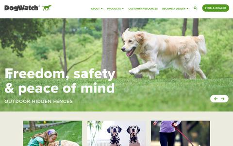 Screenshot of Home Page dogwatch.com - DogWatch® - The Original Hidden Dog Fence Company - captured Oct. 12, 2017