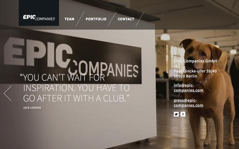 Screenshot of Contact Page epic-companies.com - EPIC Companies - captured Sept. 22, 2014