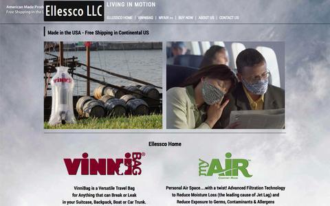 Screenshot of Home Page ellessco.com - Ellessco Home - Ellessco LLC - captured Oct. 2, 2014