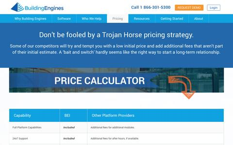Screenshot of Pricing Page buildingengines.com - Calculate Your Price | Building Engines - captured Jan. 21, 2016