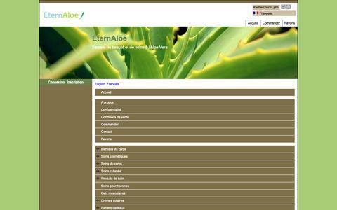 Screenshot of Site Map Page Menu Page eternaloe.com - Carte du site - captured Nov. 5, 2018