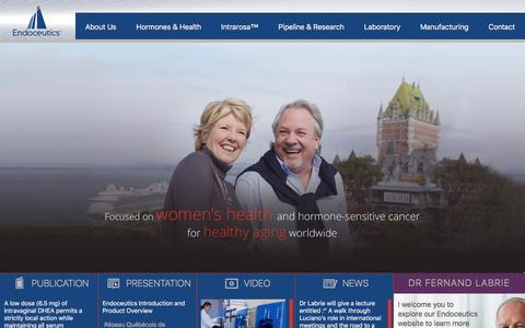 Screenshot of Home Page endoceutics.com - Endoceutics - captured July 19, 2018