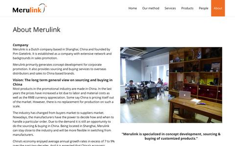 Screenshot of About Page merulink.com - About | Merulink - captured Jan. 10, 2016