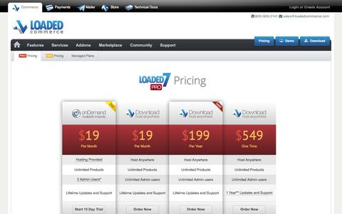Screenshot of Pricing Page loadedcommerce.com - Loaded Commerce | Pro  - Loaded Commerce - captured Sept. 16, 2014