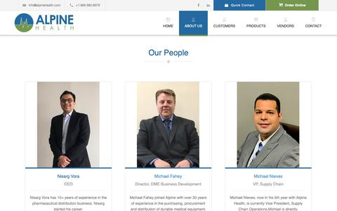 Screenshot of Team Page alpinehealth.com - Our People | Alpine Health - captured Oct. 3, 2018