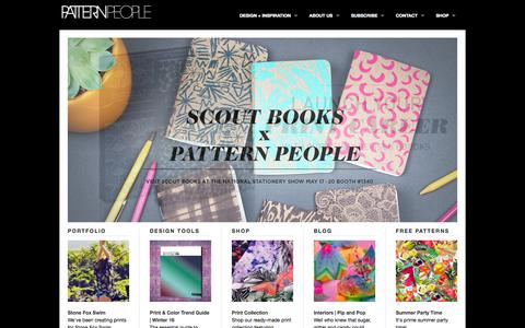 Screenshot of Home Page patternpeople.com - Pattern People   Print Studio - captured July 19, 2015