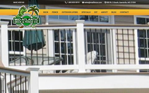 Screenshot of About Page midatlanticdeckandfence.com - About Us - Maryland Deck Builders & Fence Installation - captured Jan. 10, 2016