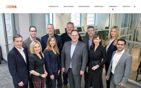 Screenshot of Team Page sigma-systems.com - Current Leaders of Sigma Systems Canada LP - captured Dec. 19, 2016
