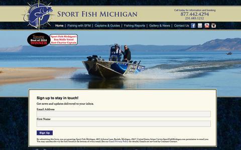 Screenshot of Signup Page sportfishmichigan.com - Northern Michigan Fishing Guides at Sport Fish Michigan - captured Nov. 5, 2017