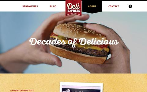 Screenshot of About Page deliexpress.com - About - Deli Express - captured Sept. 25, 2018