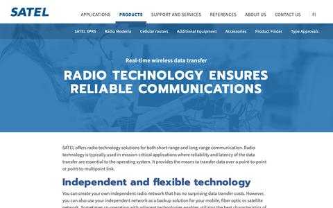 Screenshot of Products Page satel.com - SATEL – Radio technology for various data transfer needs - captured Sept. 30, 2018