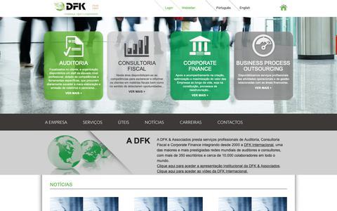 Screenshot of Home Page dfk.pt - DFK >> Juntos na Construção do Mesmo Projecto - captured Oct. 7, 2018