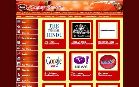 Screenshot of Press Page memorymuseum.net - English NewsPaper Sites - www.memorymuseum.net - captured Oct. 29, 2014