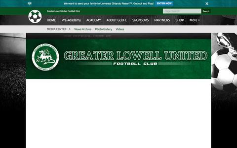 Screenshot of Press Page glufc.com - Media Center - captured Sept. 19, 2017
