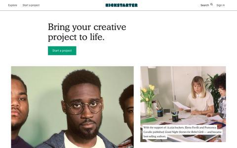 Start your project —  Kickstarter
