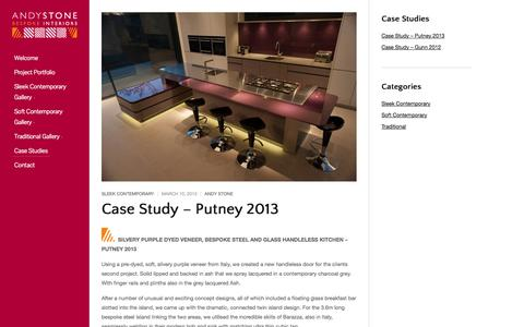 Screenshot of Case Studies Page andystone.co.uk - Case Studies   - captured Oct. 4, 2014