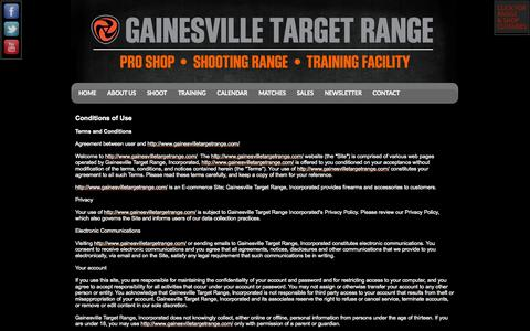 Screenshot of Terms Page gainesvilletargetrange.com - Terms of Use - captured Sept. 29, 2014