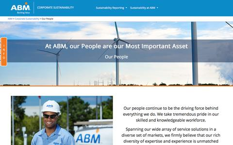 Screenshot of Team Page abm.com - Our People - Corporate Sustainability | ABM - captured March 6, 2017