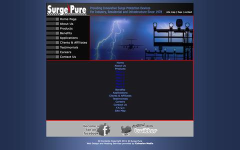 Screenshot of Site Map Page surgepure.ca - Surge Pure Canada - Canadian Surge Protection Services - captured Oct. 7, 2014