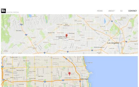 Screenshot of Maps & Directions Page bigdeahl.com - MAPS — BIG DEAHL PRODUCTIONS - captured Nov. 22, 2016