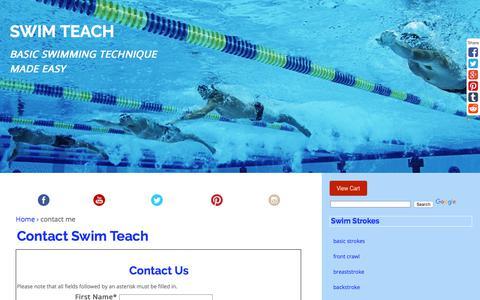 Screenshot of Contact Page swim-teach.com - Contact Swim Teach - captured Oct. 24, 2017