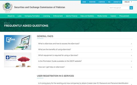 Screenshot of FAQ Page secp.gov.pk - Frequently Asked Questions (FAQs) | SECP - captured May 25, 2017