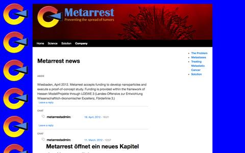 Screenshot of Press Page metarrest.com - Updates | Metarrest - captured Oct. 27, 2014