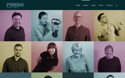 Screenshot of Team Page finish-creative.com - Team - Finish Creative - captured Feb. 10, 2016