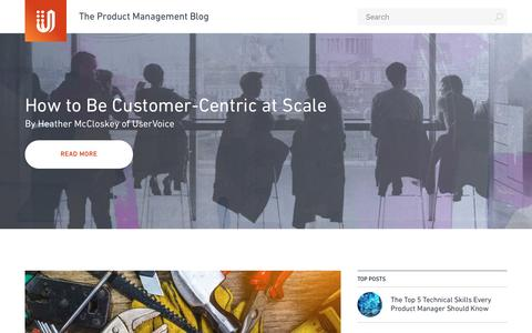 Screenshot of Blog uservoice.com - UserVoice Blog | The place for people who give a $%&# about their products and customers. - captured April 20, 2017