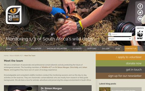 Screenshot of Team Page wildlifeact.com - Meet the team | Wildlife ACT - captured Sept. 30, 2014