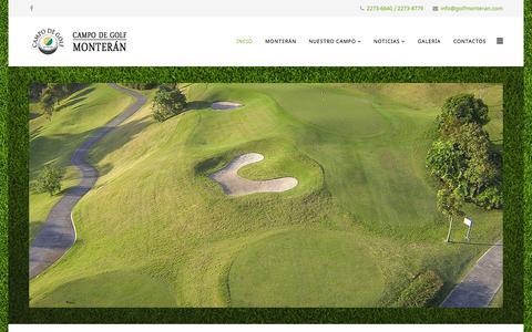 Screenshot of Home Page golfmonteran.com - Campo de Golf Monterán - Campo de Golf Monterán - Costa Rica - captured Sept. 27, 2015