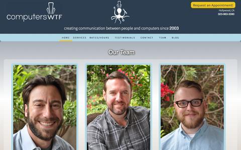Screenshot of Team Page computerswtf.com - Our Team — computersWTF - captured Dec. 10, 2015