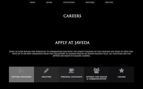 Screenshot of Jobs Page javeda.com - CAREERS  | Javeda - captured Sept. 20, 2018
