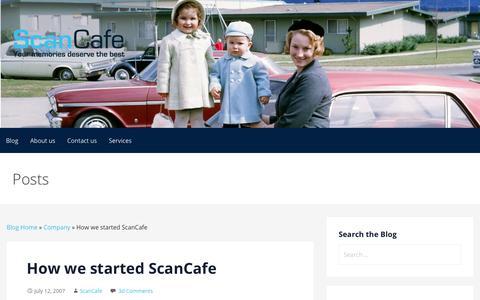 Screenshot of Blog scancafe.com - How we started ScanCafe | Photo Albums | Scanning Slides - captured March 29, 2018