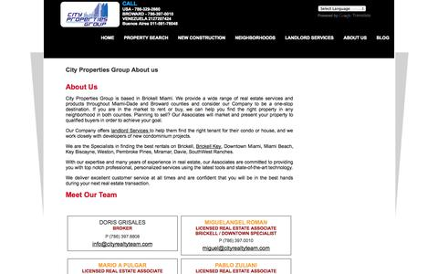Screenshot of About Page miamicondohunters.com - Brickell Condominums for Sale and Rent, BRICKELL Apartment Rentals DOWNTOWN MIAMI. - captured Oct. 2, 2014