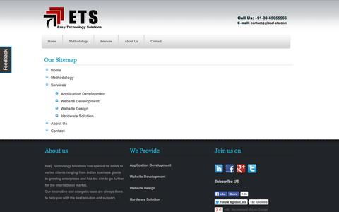 Screenshot of Site Map Page global-ets.com - ETS | Easy Technology Solutions - captured Oct. 1, 2014
