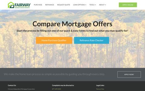 Screenshot of Home Page getyourmortgagenow.com - Home Loans & Mortgage Refinance | Fairway Independent Mortgage Corporation - captured Nov. 11, 2019