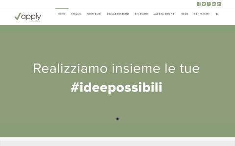 Screenshot of Home Page applyconsulting.it - Apply | Consulenza Startup Marketing e Business | Cagliari - captured Nov. 6, 2018