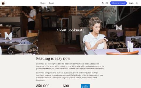 Screenshot of About Page bookmate.com - What Bookmate is - captured Dec. 19, 2017