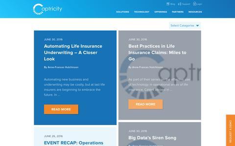 Screenshot of Blog captricity.com - Blog       Captricity - captured July 3, 2016
