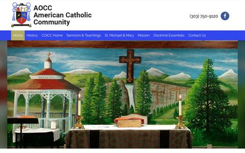 Screenshot of Home Page aocc.org - Home - AOCC American Catholic Community - captured June 29, 2018