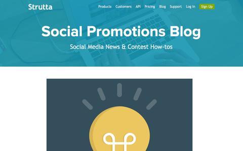 Screenshot of Blog strutta.com - Online Contest Ideas   Social Media News   Strutta Blog - captured Sept. 12, 2014